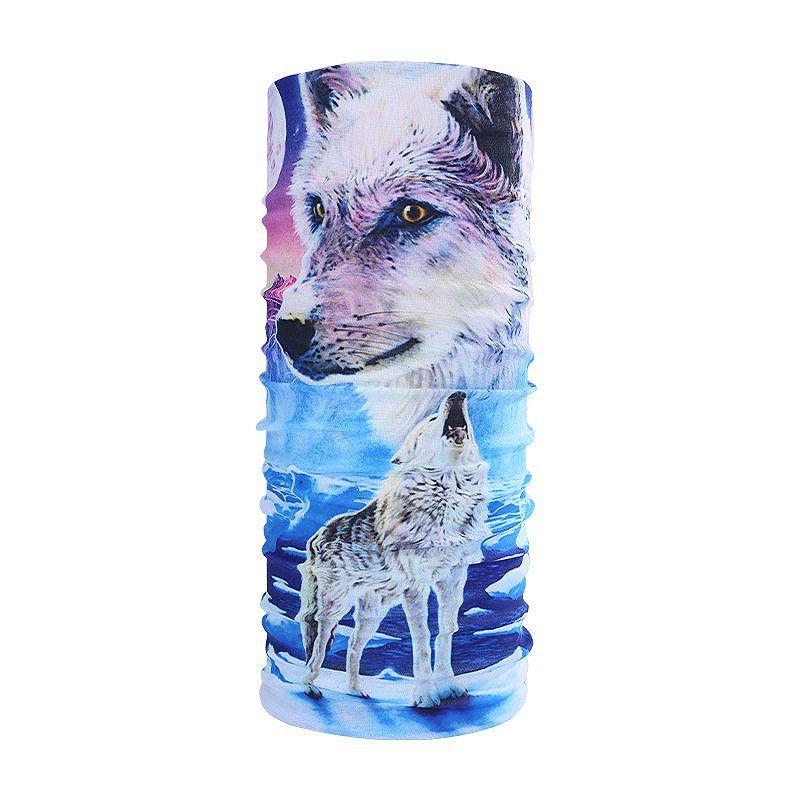 Wolf Pattern Multifunction Animal Headband