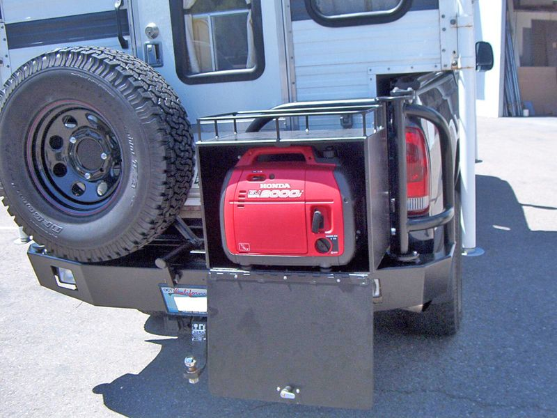 Aluminum Off Road Rear Bumper with Tire Carrier and
