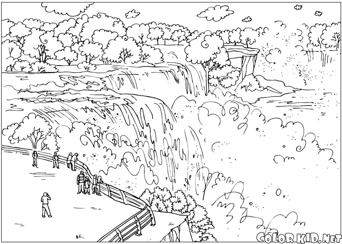 Download Or Print Out The Coloring Page Niagara Falls Fall
