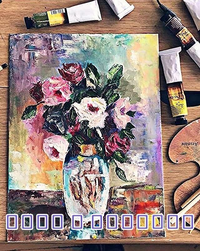 Букетче рози в стилна ваза. Мека гама с приятна тоналност разкрива красотата на цветята от градината на пролетта. Рисувано с маслени бои от @juliana_paintings  ℌ𝔞𝔰𝔥𝔱𝔞𝔤𝔰: #bgartistsofficial #bulgaria #bulgarianart #bulgarianrose #rose #bouquetroses #art #bulgarianartist #artist #painting #painter #bulgarianpainter  #artsy #beautiful #masterpiece #creative #graphic #graphics #artoftheday #talent #instaart #life #illust #handdrawn
