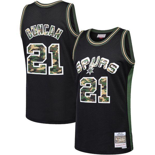 7f992ff5cfd Tim Duncan San Antonio Spurs Mitchell   Ness Straight Fire Camo Swingman  Jersey Black  SanAntonioSpurs
