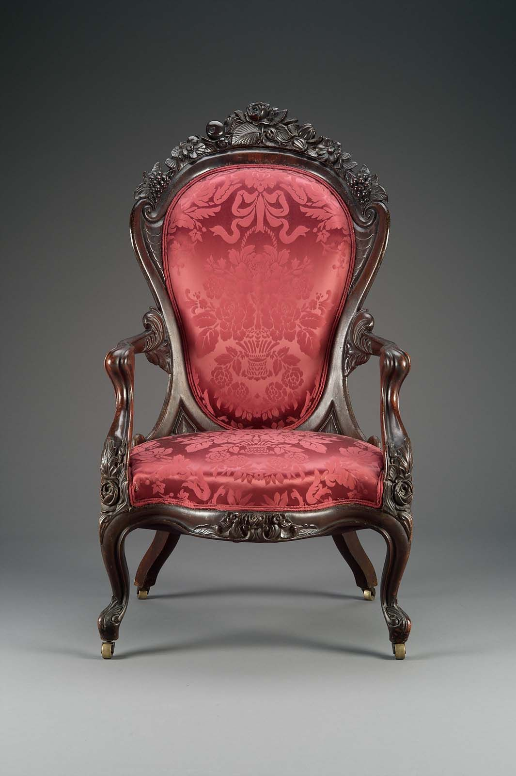 armchair rosalie pattern 1844 67 attributed to john henry belter