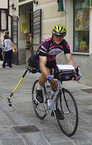 Elliot Gould On The Bike With The Gopro Mount In Low Mode Gopro