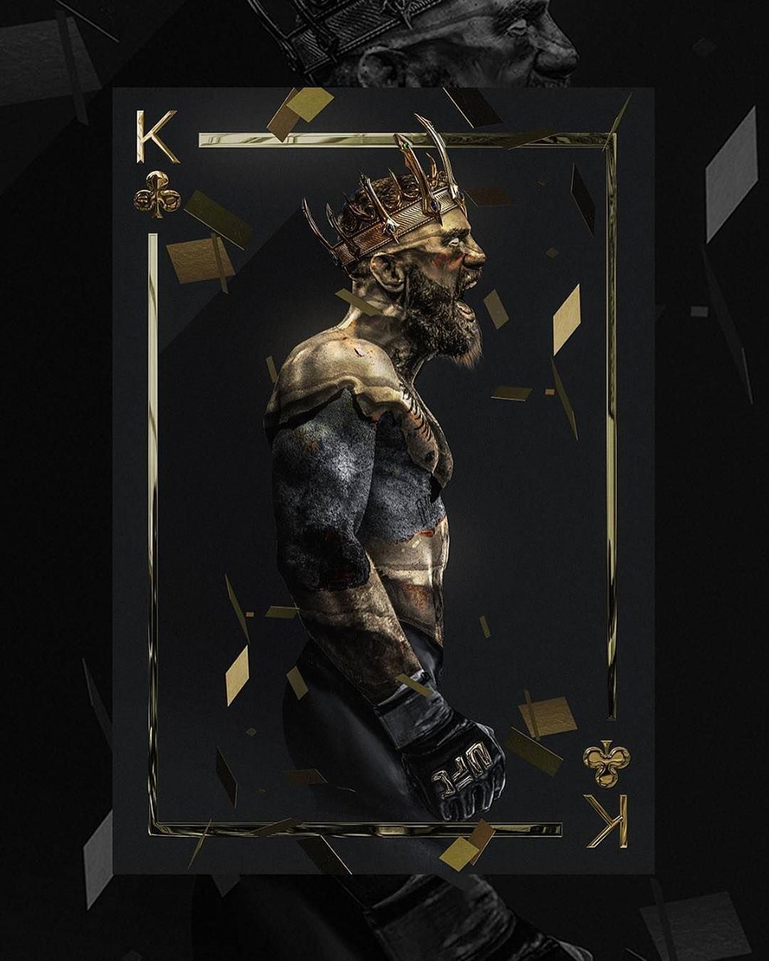 The King Is Back Lasueur Com By Bosslogic Conor Conormcgregor Mcgreg Black And Gold Aesthetic Mcgregor Wallpapers Conor Mcgregor Wallpaper