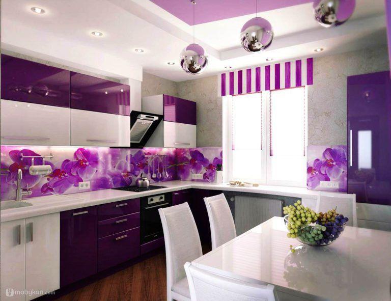 صور مطابخ حديثه و اشكال مطابخ مودرن و مميزه من موبيكان Purple Kitchen Interior Kitchen Cabinets Models Purple Kitchen