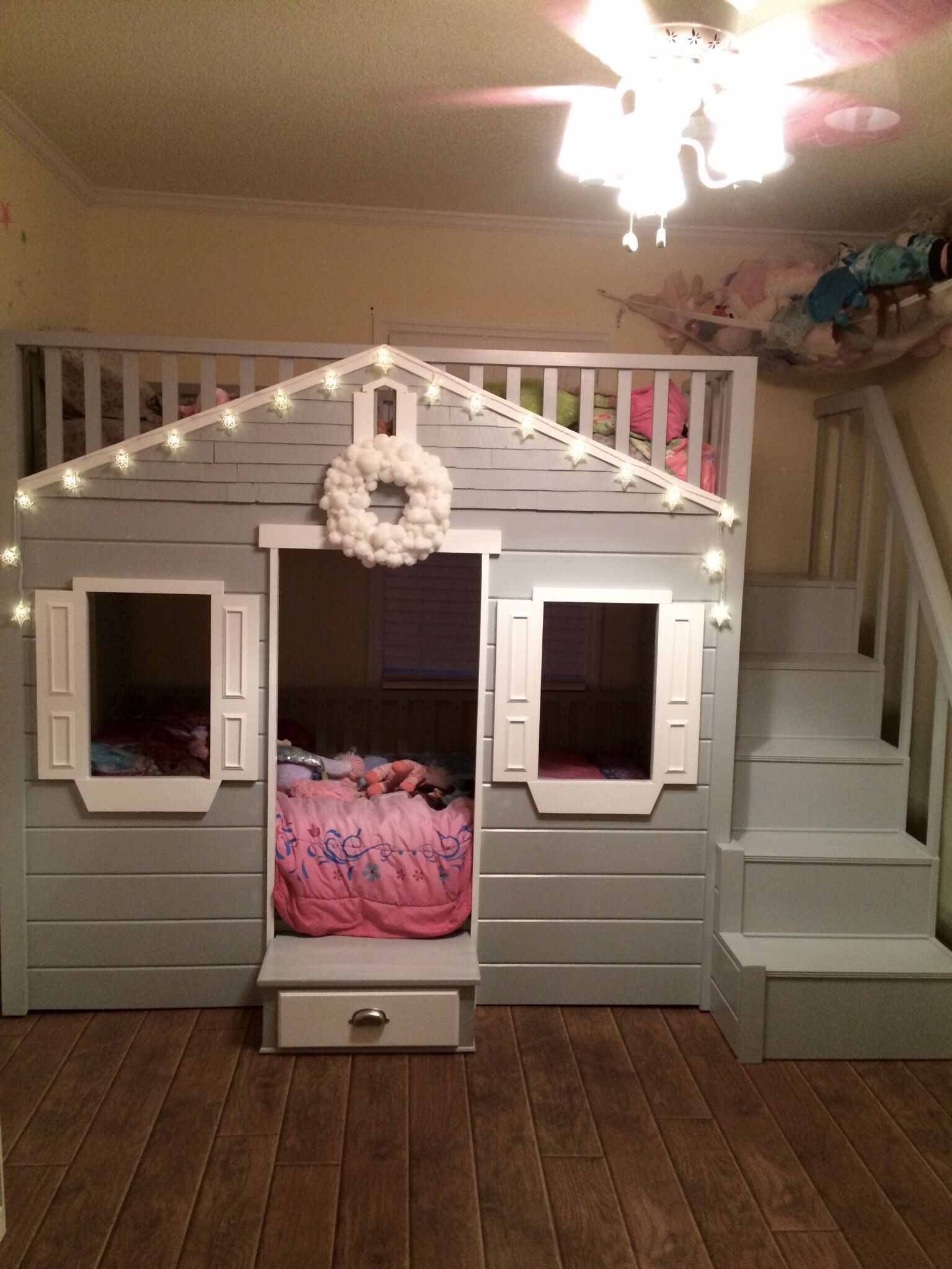 Ana White Little Cottage Loft Bed Revised Diy Projects Kids Loft Beds Girls Loft Bed Loft Bed
