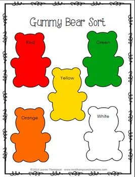 Clean image within gummy bear printable