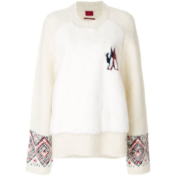 Moncler Gamme Rouge round neck jumper ($3,425) found on Polyvore featuring women's fashion,