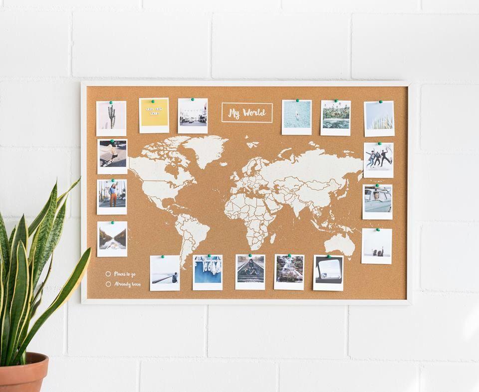 Cork World Map World Map Woody Map Carte Du Monde Liege