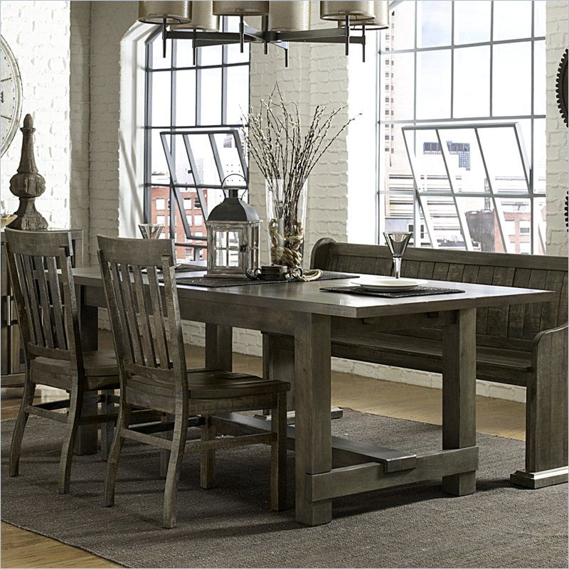 Magnussen Karlin Wood Rectangular Dining Table In Grey Acacia