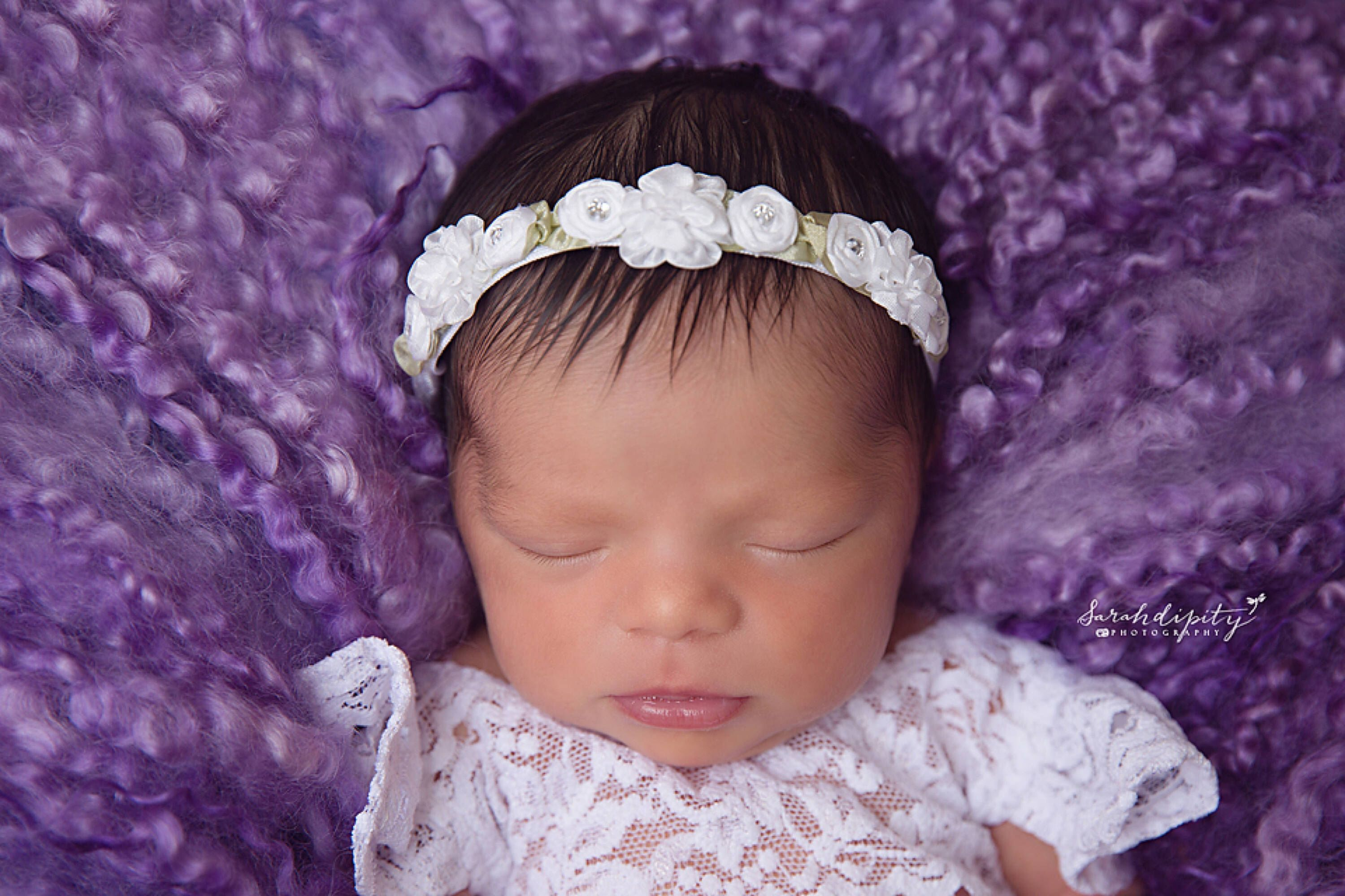 Excited to share the latest addition to my  etsy shop  White Mini Flower Halo  Headband for newborn photo shoots f1fae65911a