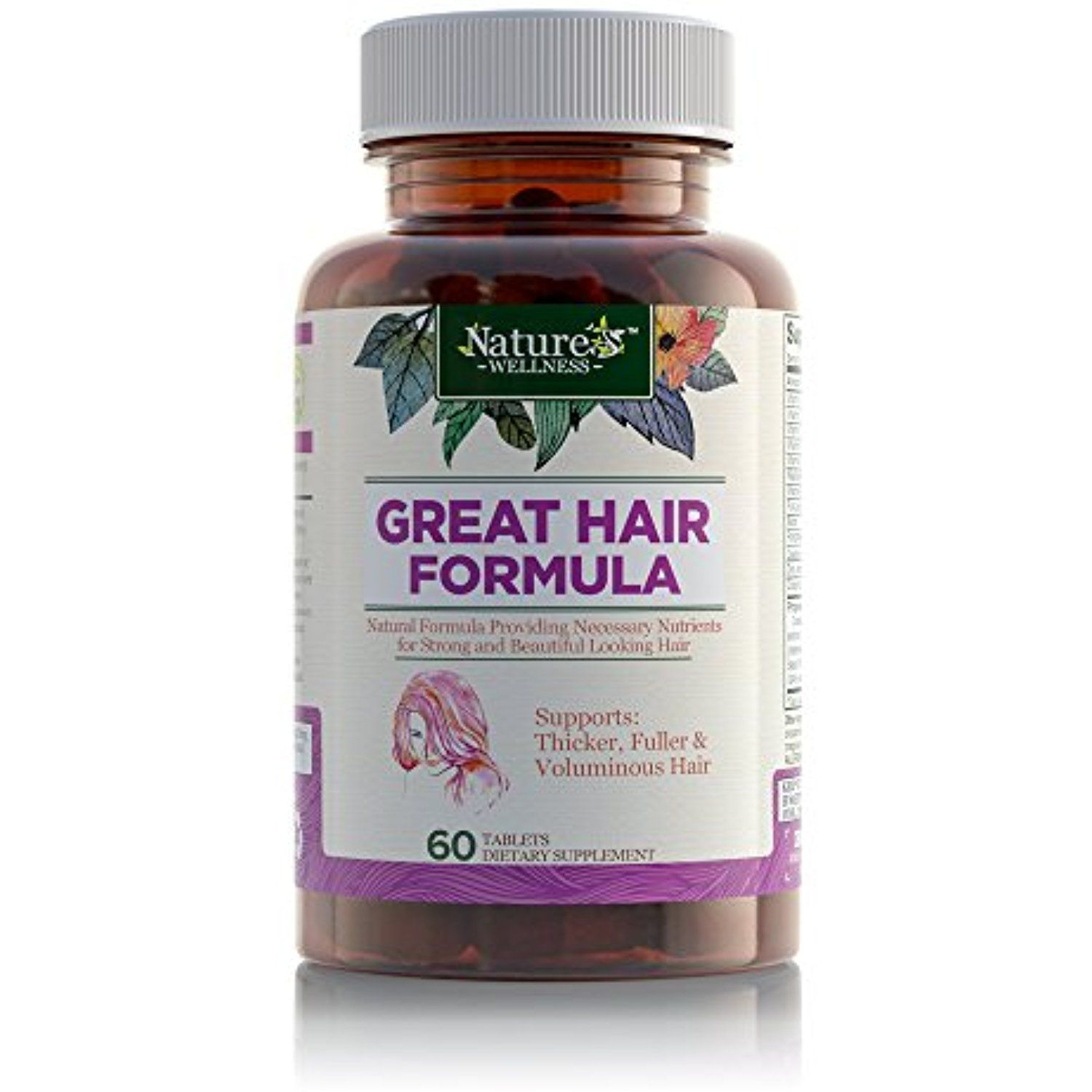 Great Hair Supplement  Natural Hair Growth Vitamins for Healthier