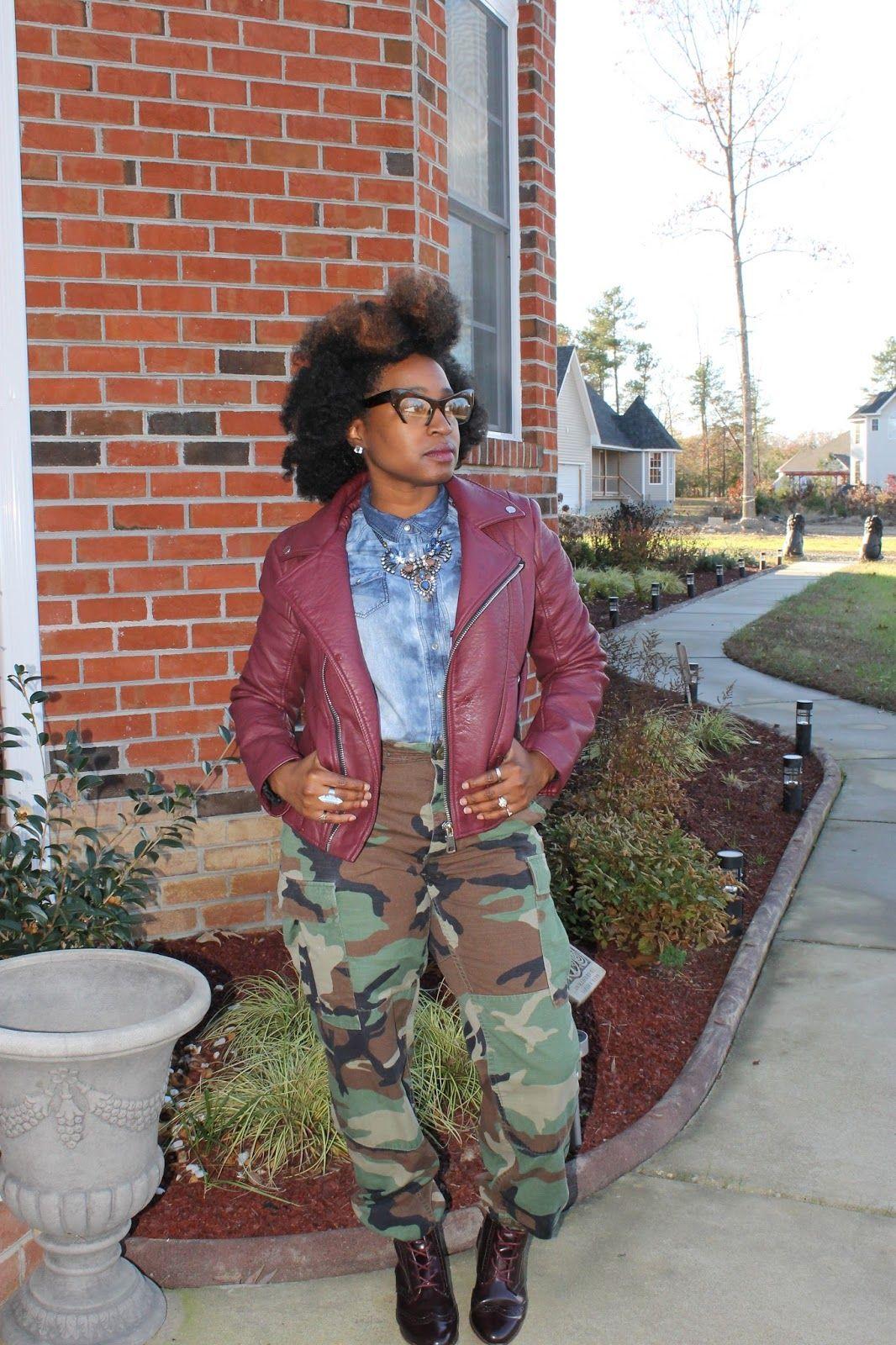 Atlanta style blogger, style blogger, Atlanta blogger, natural girls killing it, street style, Moto Jacket, Fatigue Pants