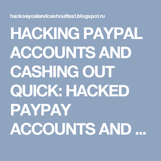 Buy Hacked Paypal Accounts