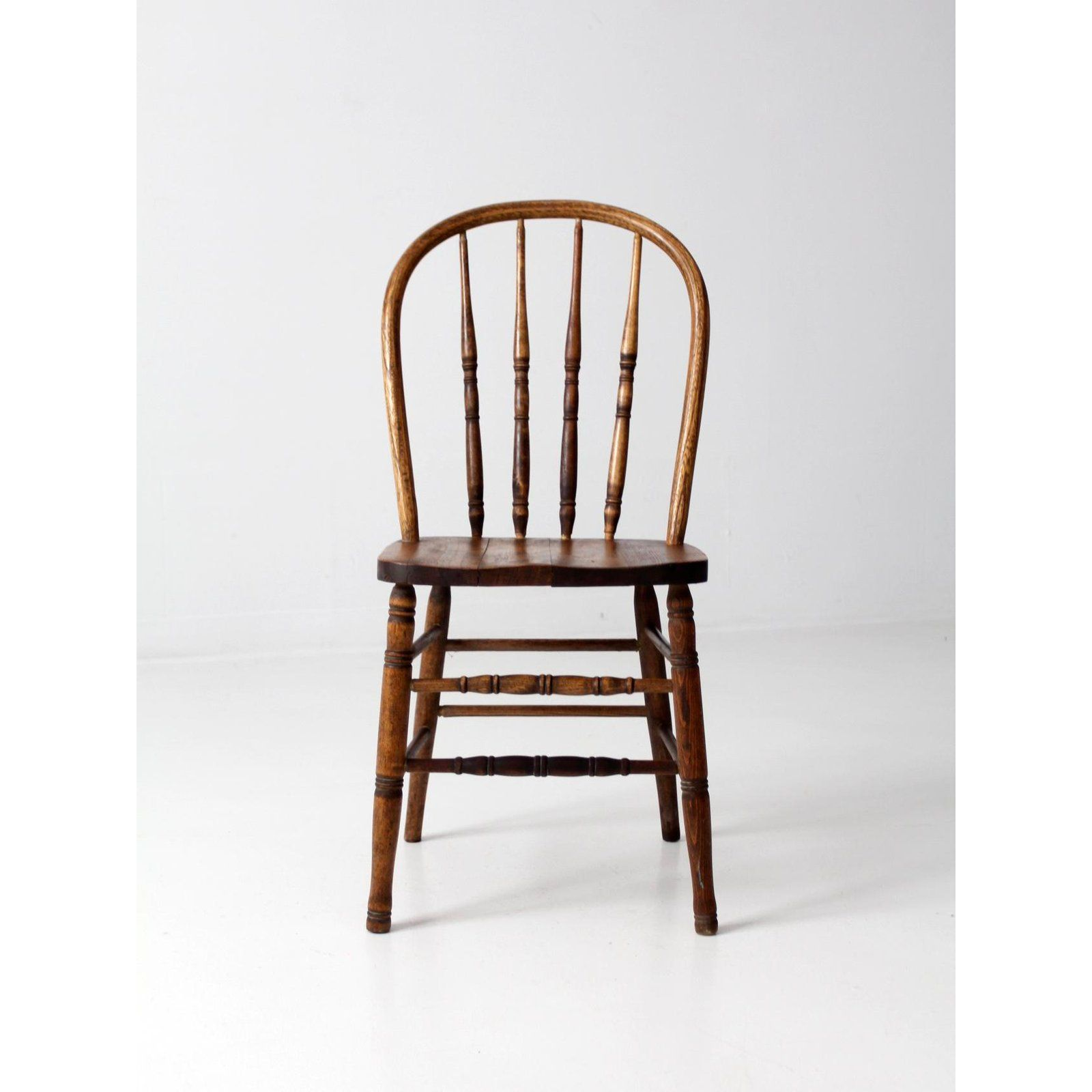 Cottage Antique Spindle Back Dining Chair For Sale Image 3 Of 9 Dining Chairs Chair Wooden Dining Room Chairs