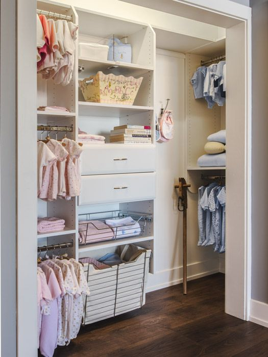 Custom Closet With Deep Return For Additional Storage
