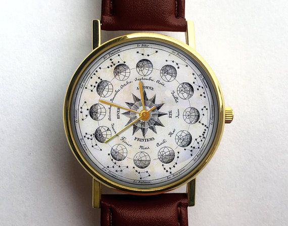 Vintage Astronomy Watch Astrology Watch by 10northcreative on Etsy ... 80ca003f2f
