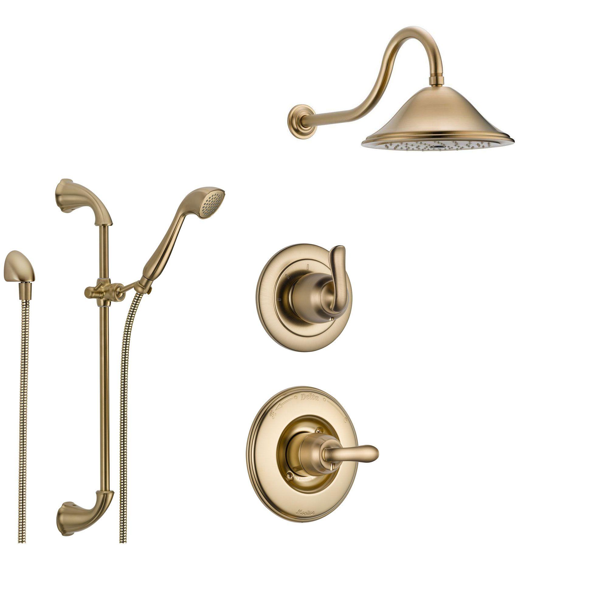 Delta Linden Champagne Bronze Shower System With Normal Shower