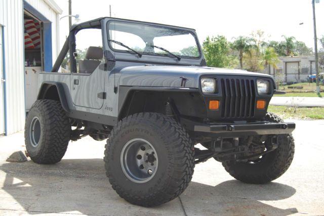 Jeep Yj Wrangler 4xl Inline 6 Cylinder Grey Black Accessories Rust Free