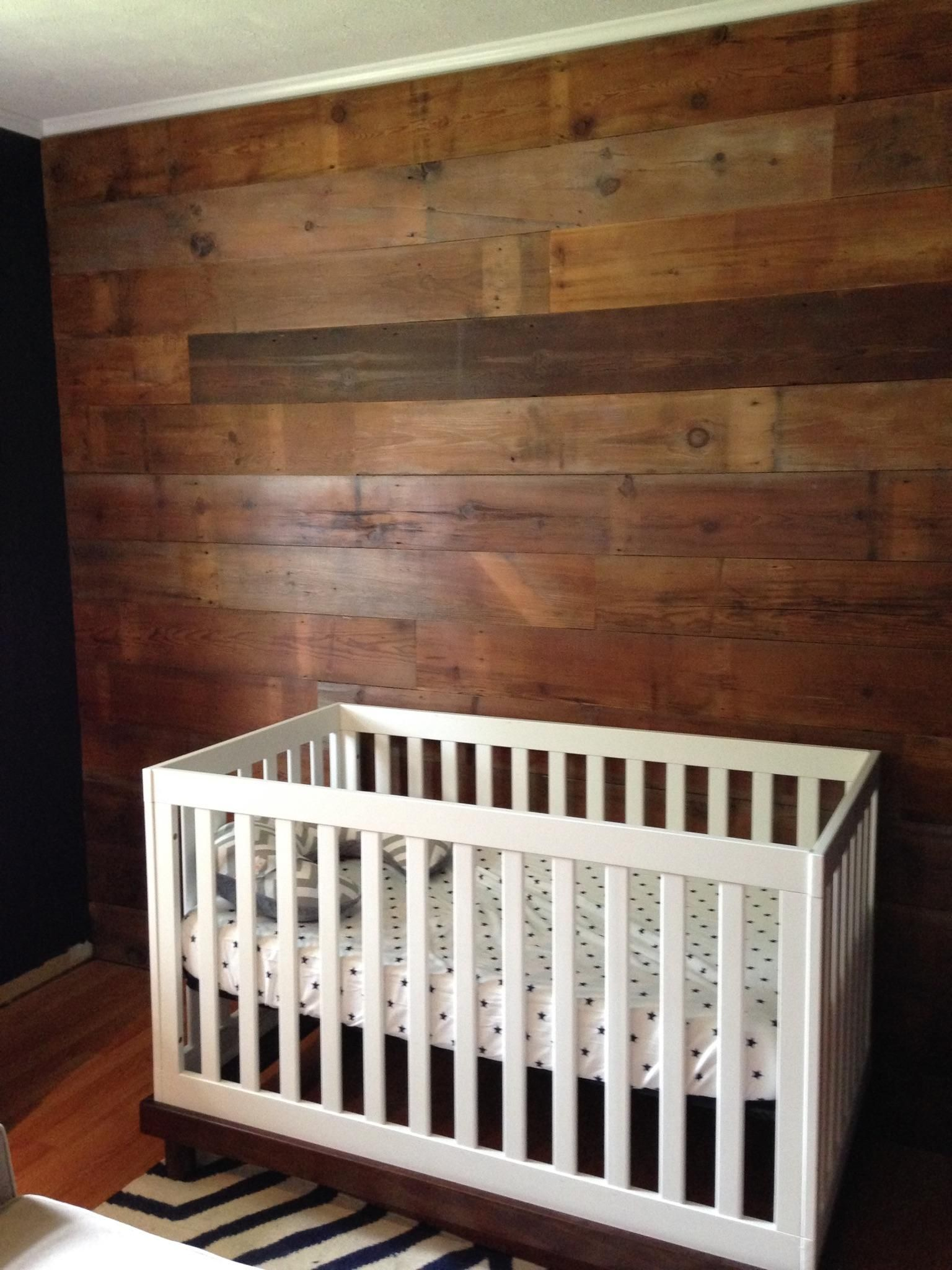 Accent Wall Featuring Reclaimed White Pine Barn Siding