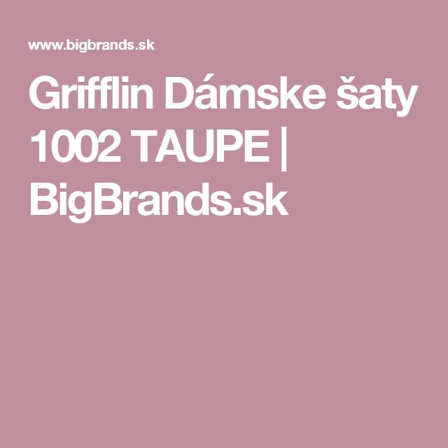 Grifflin Dámske šaty 1002 TAUPE | BigBrands.sk