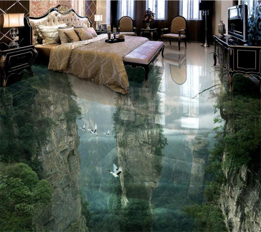 wonderland cliffs 3D Wallpaper Floor murals, Floor