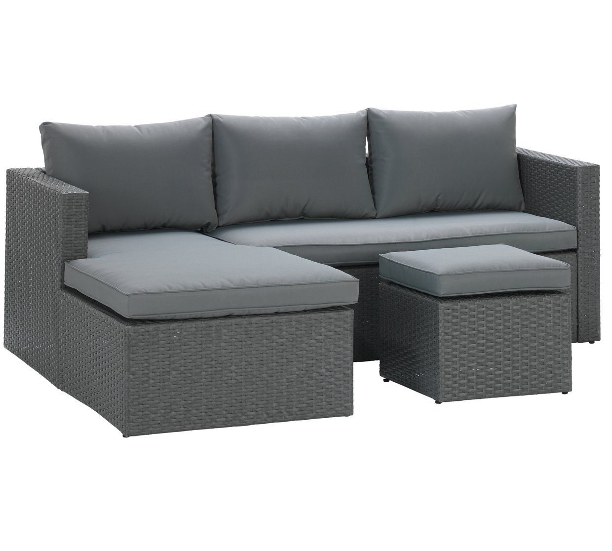 Buy Argos Home Rattan Effect Reversible Mini Corner Sofa Garden Chairs And Sun Loungers Argos Grey Corner Sofa Corner Sofa Sofa