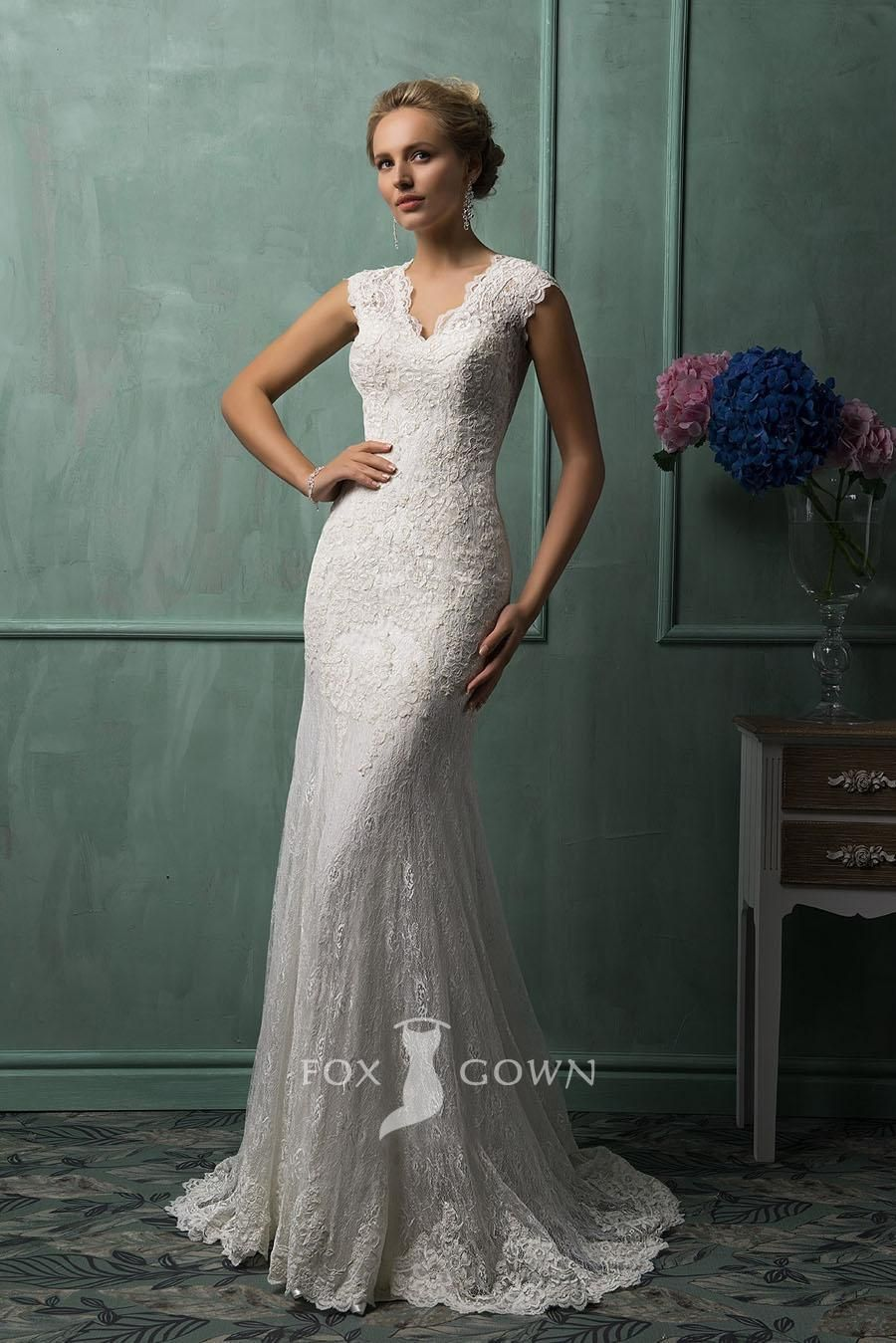 slim fit wedding dress