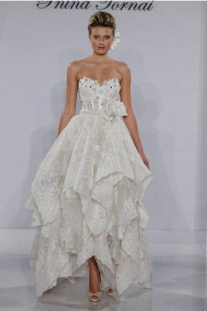 Pnina Tornai handkerchief hem dress via Project Wedding | Wedding ...