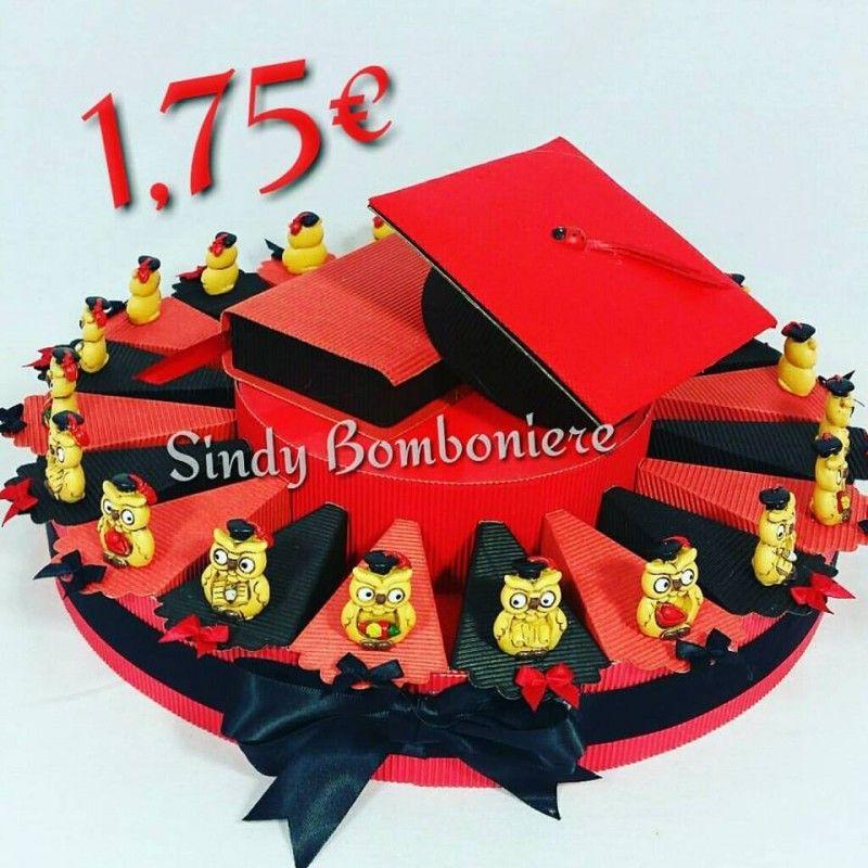 Torta Bomboniera per laurea con gufetti cappello offertissima ... 0a26cea07d47