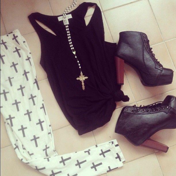 cross tights and litas