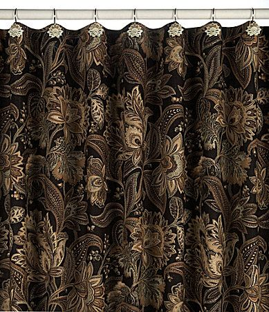gold and brown shower curtain. J Queen New York Valdosta Shower Curtain and Hooks  Dillards