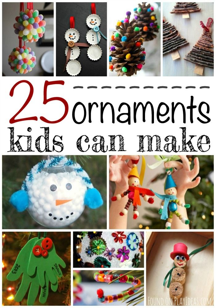 25 Christmas Ornaments Kids Can Make Ornament, Pinterest images