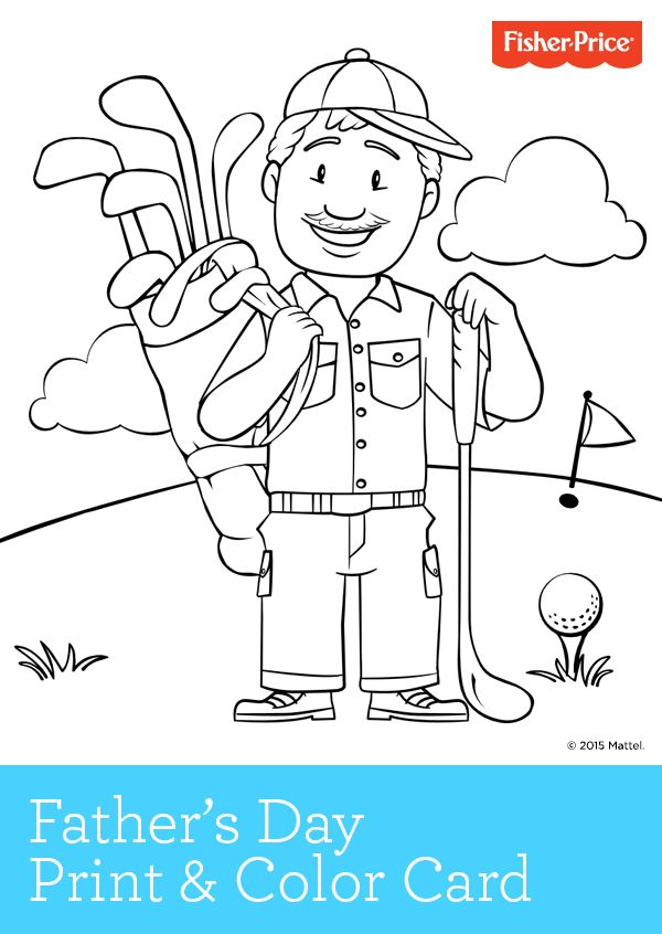 Fatheru0027s Day is getting close! If Dad is a golfer, your kids will - new free coloring pages for father's day