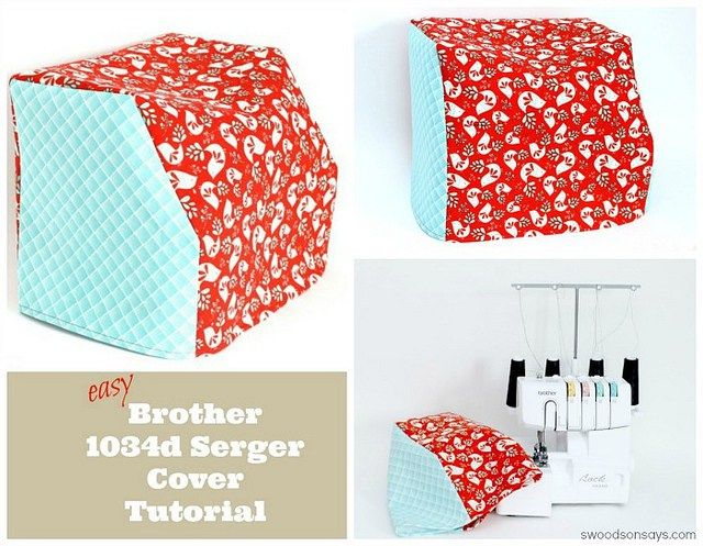 Simple Brother 1034d Serger Cover Sewing Tutorial | Sencillo, Coser ...