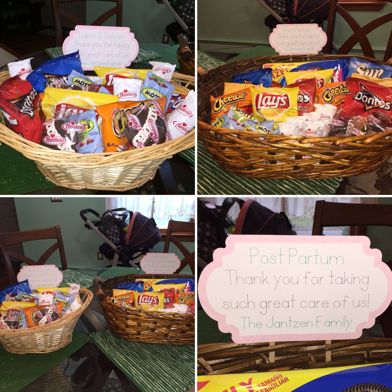 Baby Gift Ideas For Hospital : Thank you basket for nurses and staff labor delivery