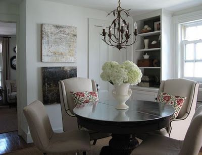 Another Pic Of That Pedestal Table In The Dining Room/could Be A Library  Room