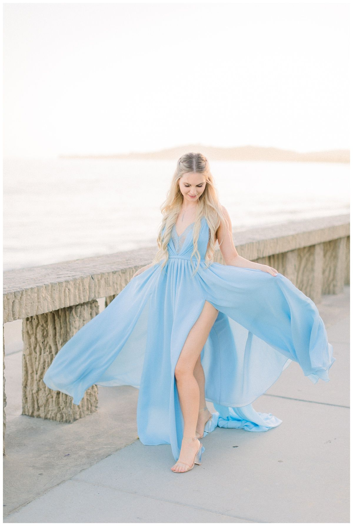 Dreamy Beach Engagement Session Dress In 2020 Flowy Dress Photography Photoshoot Dress Dresses