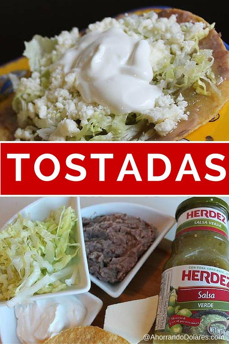 Tostadas mexicanas con salsa verde comidas ricas for Comidas faciles de cocinar