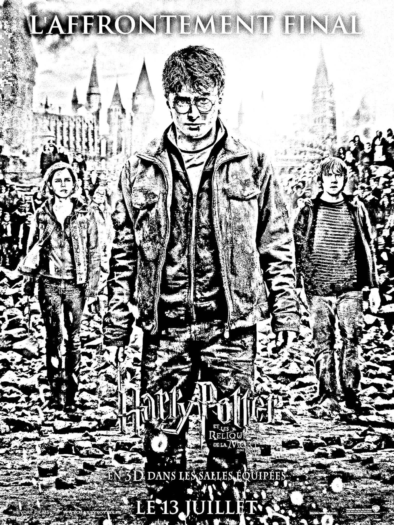Free Coloring Page Coloring Movie Harry Potter 7 2 Affiche Last