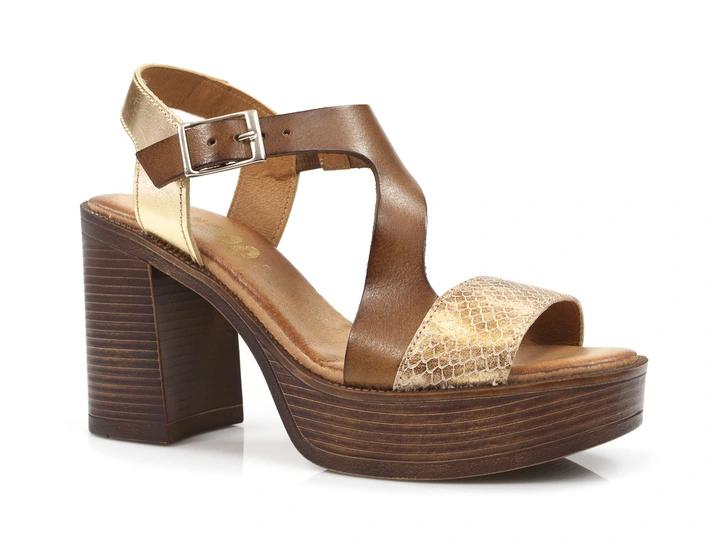 Sandaly Damskie Na Wyzszym Obcasie Ze Skory 8679127247 Oficjalne Archiwum Allegro Heels Shoes Peep Toe
