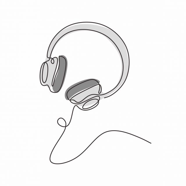One Line Drawing Headphones Music Theme Vector Illustration Minimalist Design Illustration Vector Entertainment Png And Vector With Transparent Background Fo Line Drawing Vector Illustration Headphones Drawing