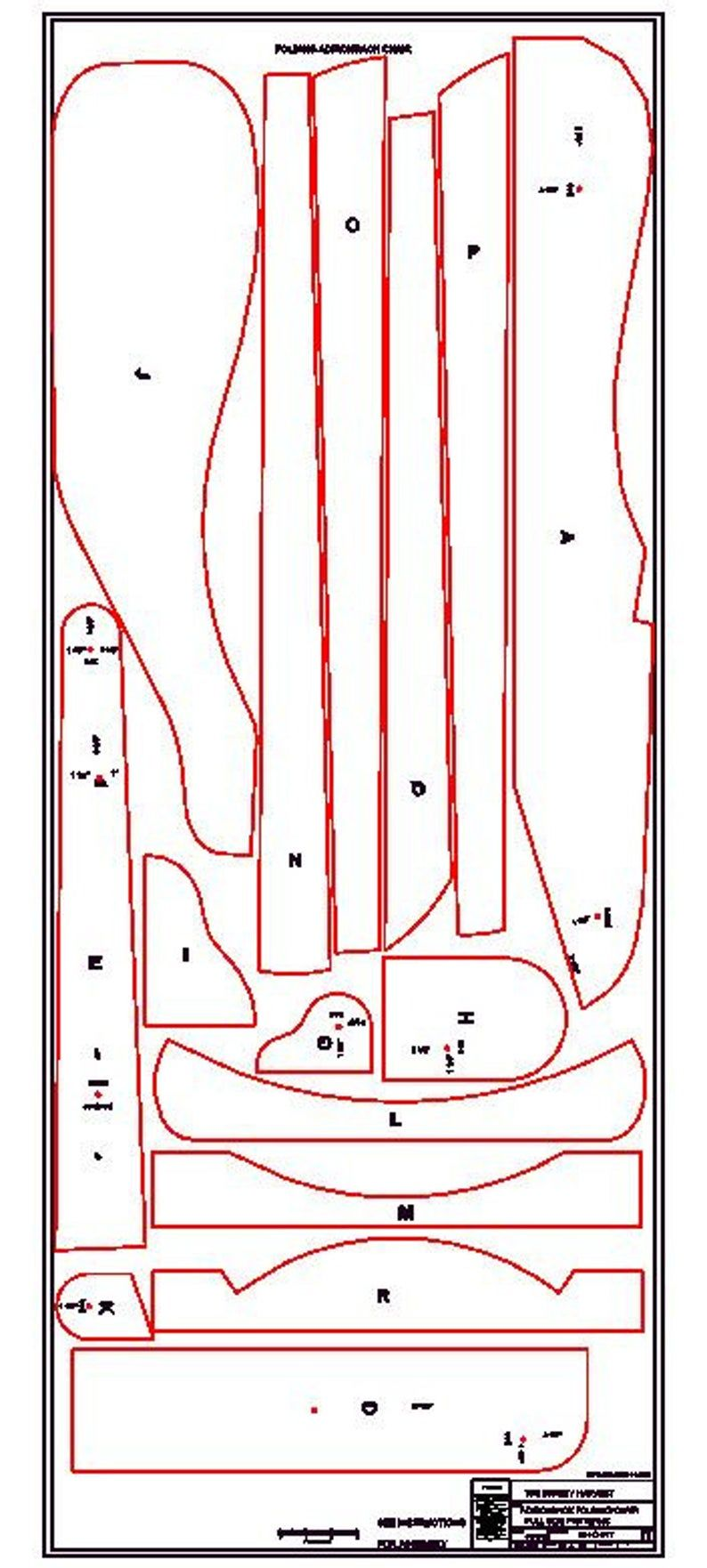 Folding adirondack chair plans dwg files for cnc
