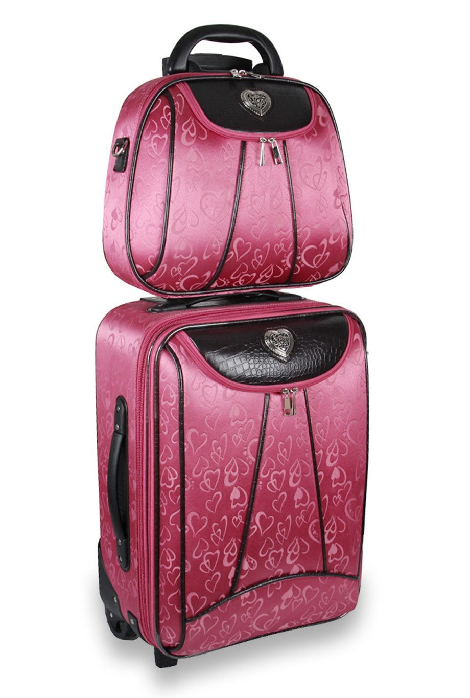 Pink Heart Rolling Luggage from JM company Cheaper than Amazon ...