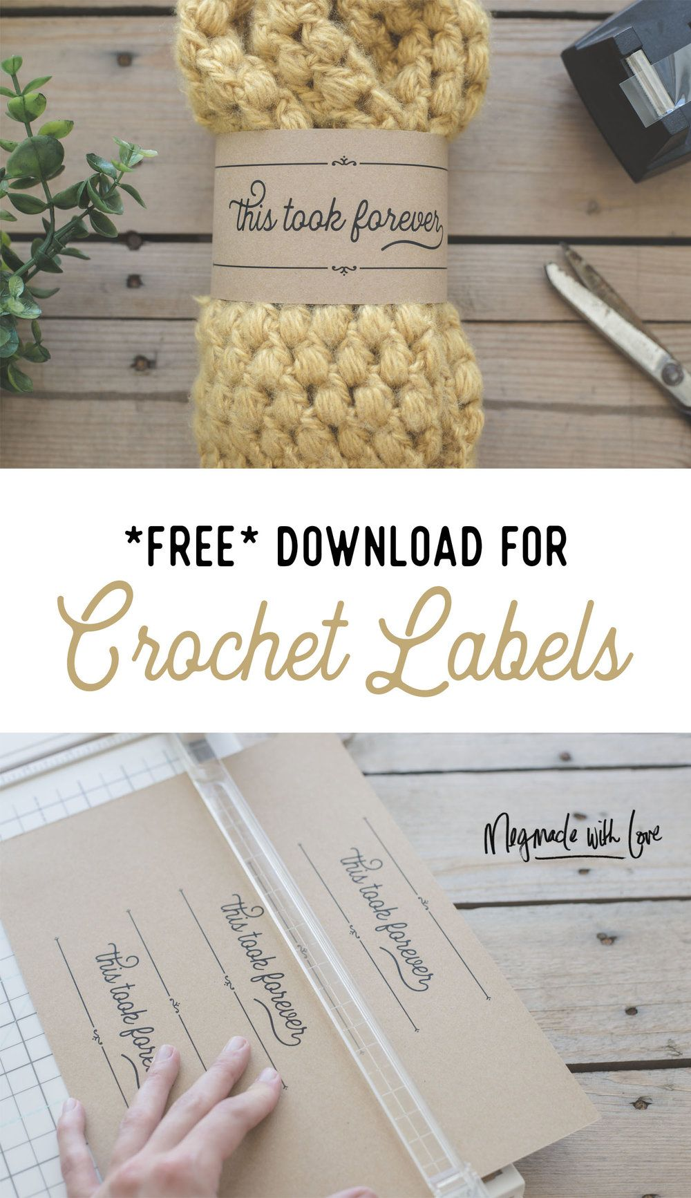 Free Download for Crochet Labels - This Took Forever Tags - Free ...