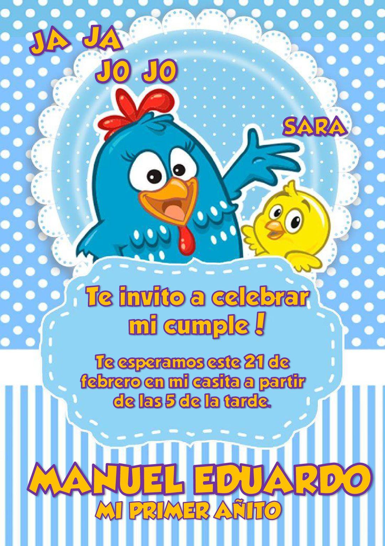 Invitación Gallinita Pintadita Invitacion Gallina