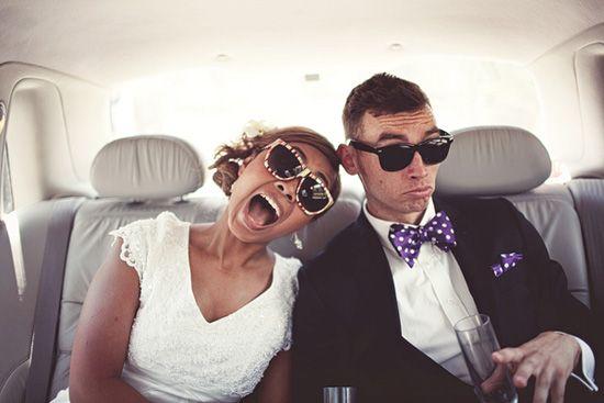 bridal looks | bride and groom sunglasses
