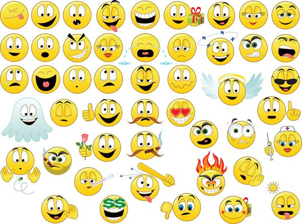 Vector Emoticons Collection Free Vector Emoticon Emoji New Emojis