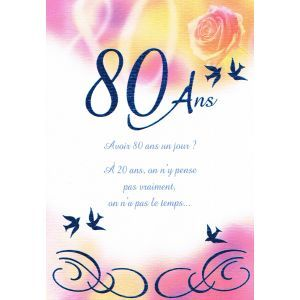 Carte Anniversaire 80 Ans Cartes Postales Pinterest Decor