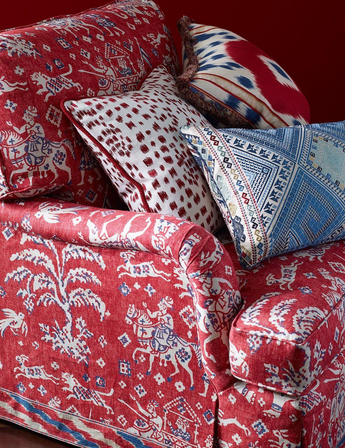 blue home decor fabric
